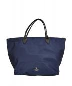 LANVIN en Bleu(ランバンオンブル)の古着「シャルロットナイロントートバッグ」 ネイビー