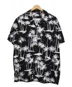 Schott(ショット)の古着「アロハシャツ」|ブラック×ホワイト