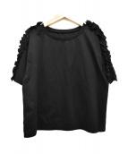 GALLARDA GALANTE(ガリャルダガランテ)の古着「フリルカットソー」|ブラック