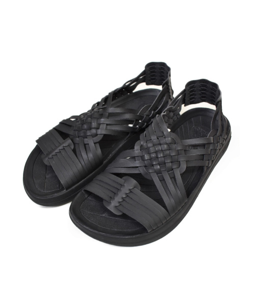 MALIBU SANDALS(マリブサンダルズ)MALIBU SANDALS (マリブサンダルズ) エコレザーメッシュサンダル ブラック サイズ:EU41の古着・服飾アイテム