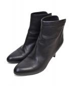 PELLICO(ペリーコ)の古着「バックジップショートブーツ」|ブラック