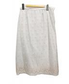 IENA(イエナ)の古着「シースルージャガードスカート」|ホワイト