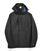 ORCIVAL(オーシバル)の古着「シングルウールステンカラーコート」|チャコールグレー
