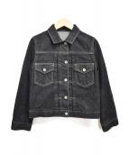 JILL STUART(ジルスチュアート)の古着「ソフィーデニムジャケット」|ブラック