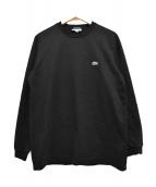 LACOSTE × BEAMS(ラコステ×ビームス)の古着「別注ビッグワニロングスリーブTシャツ」|ブラック