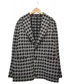 THE GIGI(ザ・ジジ)の古着「パターンチェックウールテーラードジャケット」|ブラック×グレー