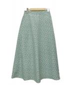 BARNYARDSTORM(バンヤードストーム)の古着「小花柄ロングスカート」|グリーン