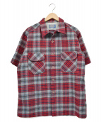 PENDLETON(ペンドルトン)の古着「S/Sウールチェックシャツ」|レッド×グレー