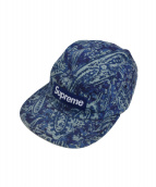 Supreme(シュプリーム)の古着「Liberty Paisley Camp Cap」|ブルー