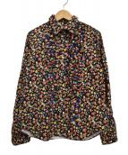 tricot COMME des GARCONS(トリコ コムデギャルソン)の古着「小花柄フリルL/Sシャツ」|マルチカラー