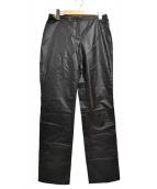 VERSACE JEANS COUTURE(ヴェルサーチジーンズクチュール)の古着「エコレザーパンツ」|ブラック