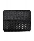 Vivienne Westwood(ヴィヴィアン・ウエストウッド)の古着「エンボス2つ折り財布」|ブラック