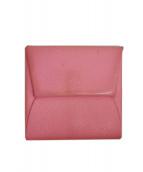 HERMES(エルメス)の古着「BASTIA バスティアコインケース」|ピンク