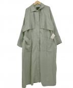 KBF(ケービーエフ)の古着「コットンリネンボリュームコート」 グリーン