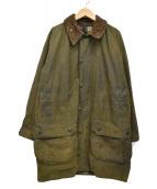 Barbour(バブアー)の古着「90sオイルドミドルコート GAMEFAIR」|グリーン