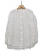 RAY BEAMS(レイビームス)の古着「サイド ボタン バンドカラー シャツ」|ホワイト