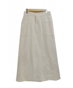 SLOBE IENA(イエナスローブ)の古着「ポンチタイトスカート」|アイボリー