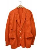 Y's(ワイズ)の古着「製品染めオーバーサイズジャケット」|オレンジ