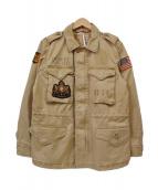 POLO RALPH LAUREN(ポロラルフローレン)の古着「ミリタリーパッチジャケット」|ベージュ