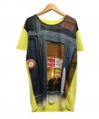 MM6(エムエムシックス)の古着「グラフィックカットソー/Tシャツ」|イエロー