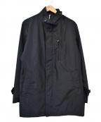 SANYO(サンヨー)の古着「モバイルスタンドカラーショートレングス コート」|ネイビー