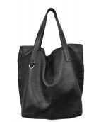 COCCINELLE(コチネレ)の古着「レザートートバッグ」|ブラック