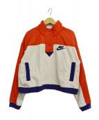 NIKE(ナイキ)の古着「ハーフジップフリースPOジャケット」 ベージュ×オレンジ