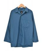 DESCENTE PAUSE(デサントポーズ)の古着「ムソウオープンカラーシャツ」|ネイビー