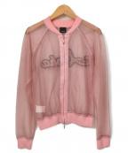 PINKO(ピンコ)の古着「レースブルゾン」|ピンク