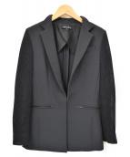 BERARDI(ベラルディ)の古着「袖メッシュテーラードジャケット」|ブラック