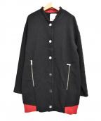 PINKO(ピンコ)の古着「ロングブルゾン」|ブラック
