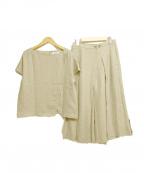 HUMAN WOMAN(ヒューマンウーマン)の古着「セットアップブラウス スカート」|ブラウン