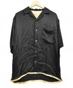 edition(エディッション)の古着「レーヨンオープンカラーシャツ」|ブラック