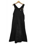 UNIVERSAL OVERALL(ユニバーサルオーバーオール)の古着「マーメイドジャンパースカート」|ブラック