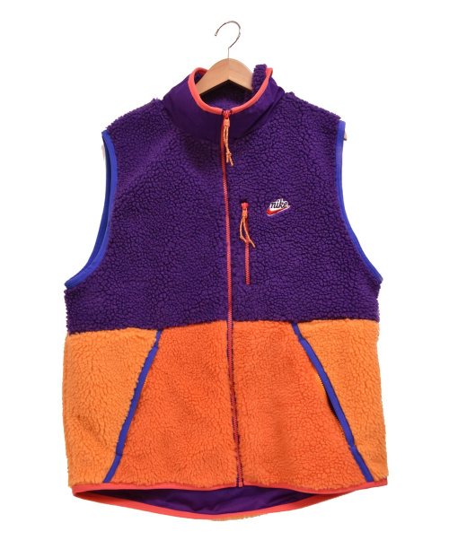 NIKE(ナイキ)NIKE (ナイキ) AS M NSW HE VEST WINTER COURT パープル×オレンジ サイズ:XLの古着・服飾アイテム