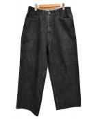 WESTOVERALLS(ウエストオーバーオールズ)の古着「ブラックデニムパンツ」|ブラック