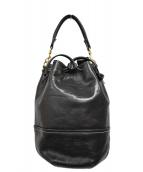 HIROFU(ヒロフ)の古着「巾着ハンドバッグ」|ブラック