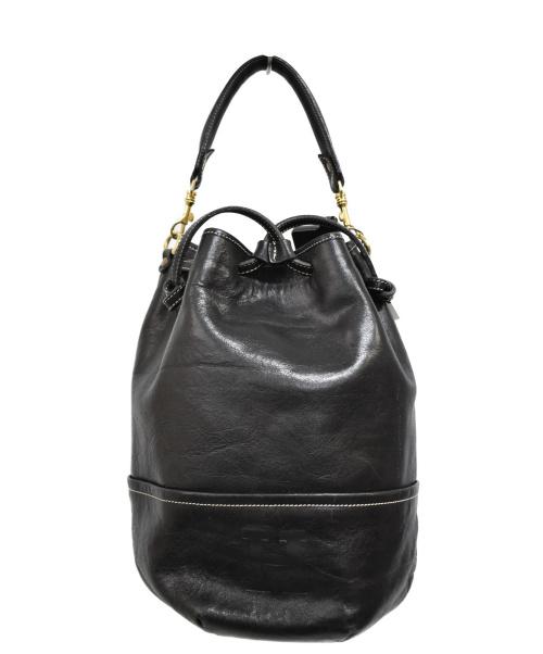 HIROFU(ヒロフ)HIROFU (ヒロフ) 巾着ハンドバッグ ブラック サイズ:下記参照の古着・服飾アイテム