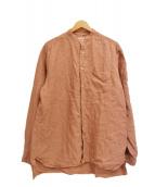 nest Robe(ネストローブ)の古着「長袖バンドカラーシャツ」 ピンク