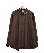 LITTLEBIG(リトルビッグ)の古着「パイピングシャツ」|ブラック