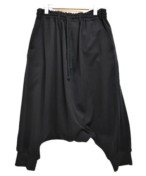GROUND Y(グラウンドワイ)GROUND Y (グラウンドワイ) Hem Rib Line Sarouel Pants ブラック サイズ:3の古着・服飾アイテム