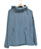 DESCENTE(デサント)の古着「パラヘムパッカブルフーデッドジャケット」 ネイビー