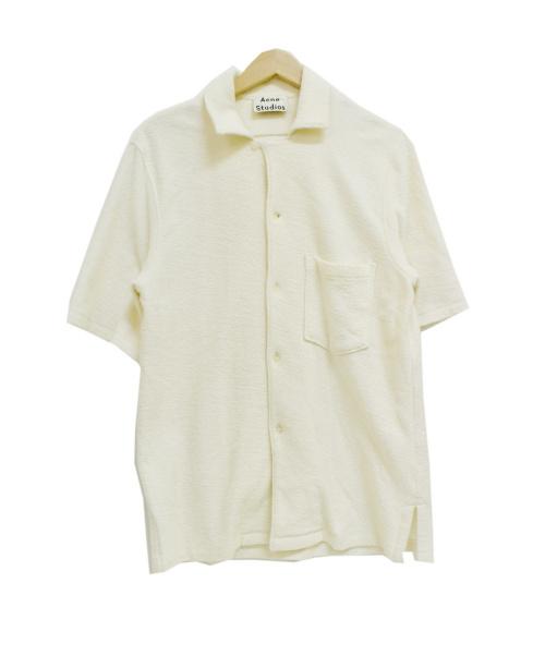 ACNE STUDIOS(アクネステュディオズ)ACNE STUDIOS (アクネステュディオズ) パイルオープンカラーシャツ アイボリー サイズ:XSの古着・服飾アイテム