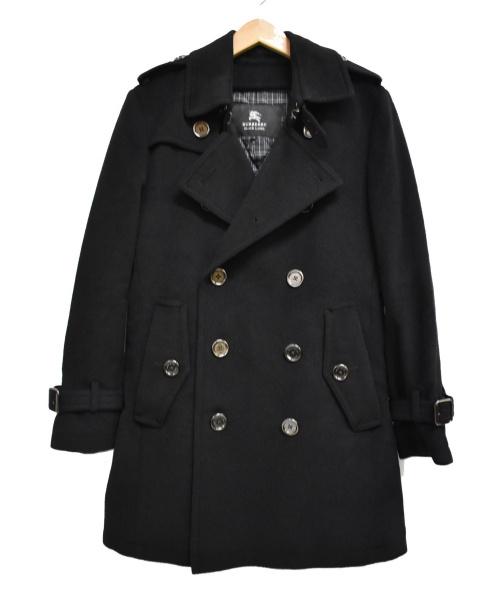 BURBERRY BLACK LABEL(バーバリーブラックレーベル)BURBERRY BLACK LABEL (バーバリーブラックレーベル) ライナー付メルトントレンチコート ブラック サイズ:Sの古着・服飾アイテム