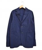 giannetto(ジャンネット)の古着「シアサッカーストライプ2Bジャケット」|ネイビー