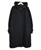 allureville(アルアバイル)の古着「フード付ウールコート」|ブラック