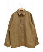 ()の古着「ウールワイドジャケット」 ベージュ
