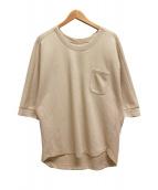 ()の古着「鹿の子ポケットTシャツ」|ベージュ