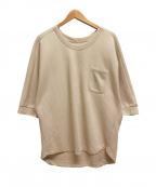 YANTOR(ヤントル)の古着「鹿の子ポケットTシャツ」 ベージュ