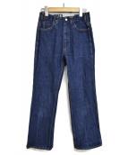 WESTOVERALLS(ウエストオーバーオールズ)の古着「フレアデニムパンツ」|インディゴ